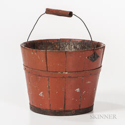 Small Red-painted Pail