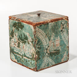 Wallpaper Covered Box.