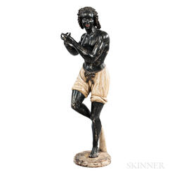 Carved and Painted Trade Figure of Bacchus
