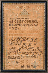 """Mary Leonard"" Needlework Sampler"