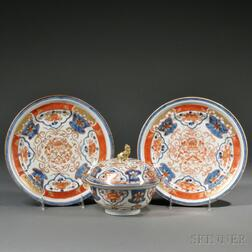 Three Dutch Market Japanese Export Imari and Armorial Porcelain Items