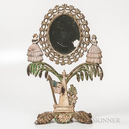 Painted Cast Iron Jenny Lind Mirror
