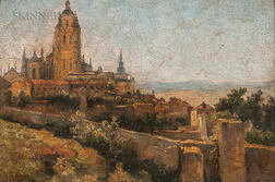 Attributed to Enrique Casanovas Roy (Spanish, 1882-1948)      Segovia