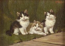 German School, 19th/20th Century  Three Kittens