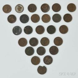 Twenty-seven Mostly Braided Hair Large Cents