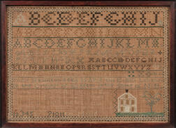 "Needlework Sampler ""Polly Hamilton,"""