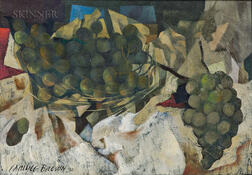 Carlyle Brown (American, 1919-1963)      Still Life with Grapes