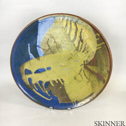 Glazed Studio Pottery Charger