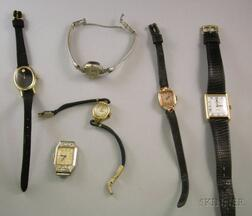 Group of Six Lady's Wristwatches