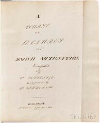 Doddridge, Philip (1702-1751) and Caleb Ashworth (1722-1775) A Course of Lectures on Jewish Antiquities  , Manuscript on Paper.