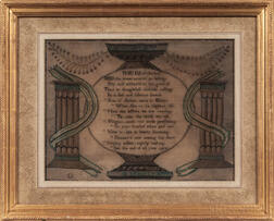 """Mary Fletcher"" Silk Needlework Sampler"