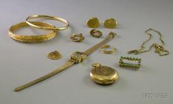 Group of Assorted Gold and Gold-filled Jewelry