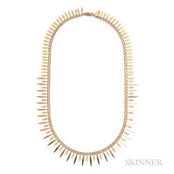 18kt Gold and Cultured Pearl Fringe Necklace