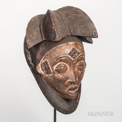 Pende-style Carved Wood Mask