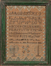 "Needlework Sampler ""Mary Ann M. Hills,"""