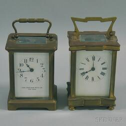 Two Carriage Clocks