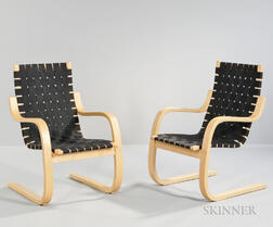 Two Alvar Aalto-style Cantilever Chairs