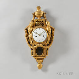 Baudoin Gilt-brass Cartel Wall Clock