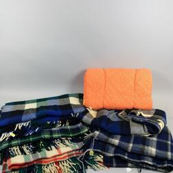 Group of Wool Blankets and a Cotton Quilt.     Estimate $20-200