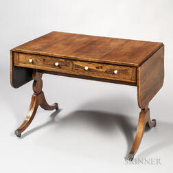 Regency Mahogany-veneered Sofa Table