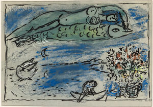 After Marc Chagall (Russian/French, 1887-1985)      Poisson volant