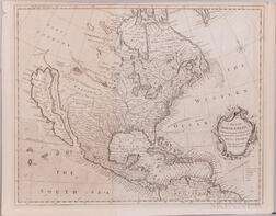 North America. Richard William Seale (fl. 1732-1775) A Map of North America with the European Settlements & Whatever Else is Remarkable