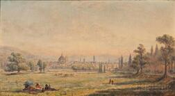 Edward Lamson Henry (American, 1841-1919)      Florence from the Cascine