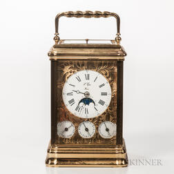 Triple Calendar and Hour-repeating Carriage Clock