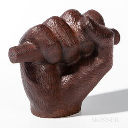 Hand-carved Wood Fist