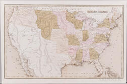North America, Continental United States, Three Maps: 1830, 1838, and 1844.