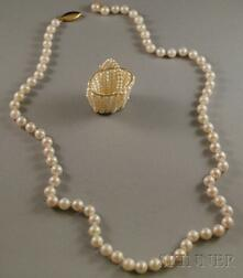 Two Pearl Jewelry Items