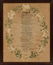 "Needlework Sampler ""Paraphrase,"""