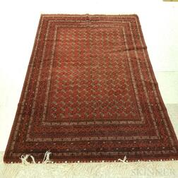"Afghan ""Bokhara"" Carpet with Tekke Design"