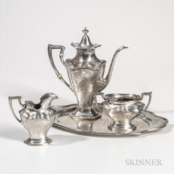 Four-piece Reed & Barton Sterling Silver Coffee Service