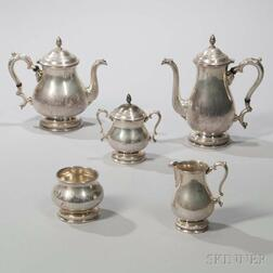 "Five-piece International ""Prelude"" Pattern Sterling Silver Tea and Coffee Service"