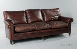 George Smith Leather Couch