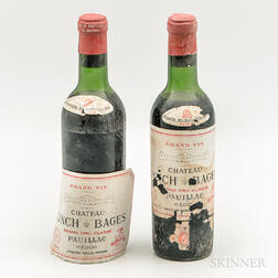 Chateau Lynch Bages 1966, 2 demi bottles