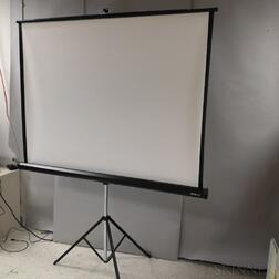 Portable Apollo Projector Screen.     Estimate $20-200