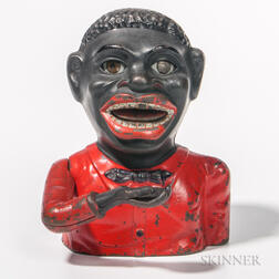 Cast Iron Mechanical Jolly Black Man Bank