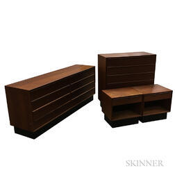 Westnofa Teak Veneer Bedroom Set