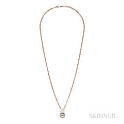 18kt Gold and Tahitian Pearl Pendant, Mikimoto
