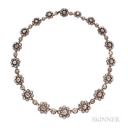 Antique Rose-cut Diamond Necklace