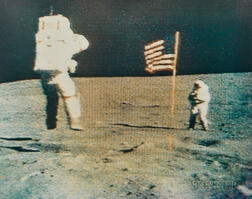 Transmitted by the RCA Camera Mounted to the Lunar Rover