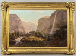 Ferdinand (Joachim) Reichardt (New York/California/Denmark, 1819-1895)      Alpine and Mountain Scene