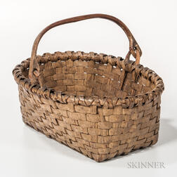 White-painted Splint Basket