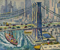 American School, 20th Century      Brooklyn Bridge and Manhattan View
