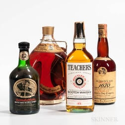 Mixed Scotch, 1 1/2 gallon bottle, 4/5 quart bottles, 1 750ml bottle