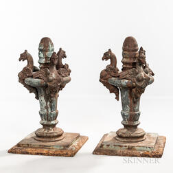 Pair of Cast Iron Bridge Finials