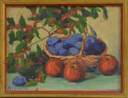 Margaretha E. Albers (American, 1881-1977)      Still Life with Fruit