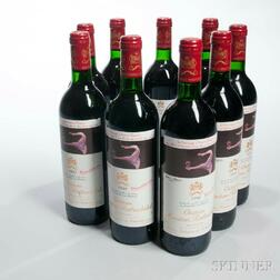 Chateau Mouton Rothschild 1990, 9 bottles